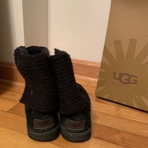 UGG Classic Cardy Knit Boot Black